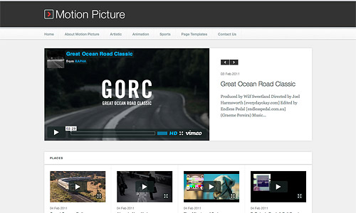motion pictures wordpress template
