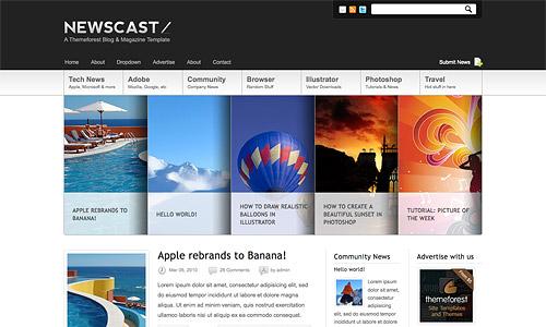 newscast 4 in 1 wordpress template