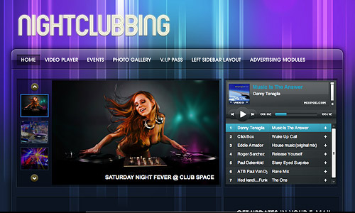 nightclubbing music wordpress template