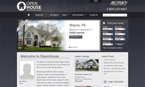 openhouse real estate wordpress template