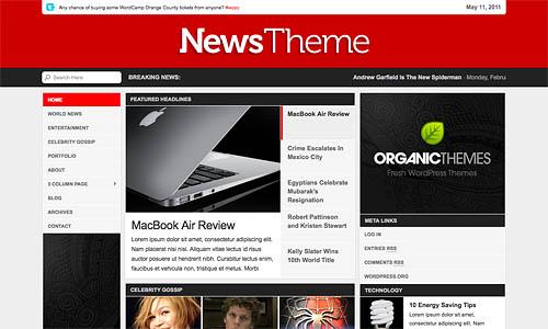 organice news wordpress template