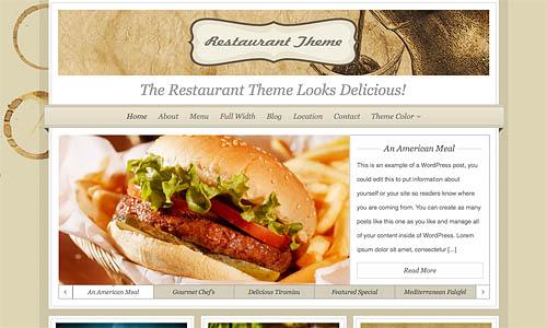 organice restaurant wordpress template