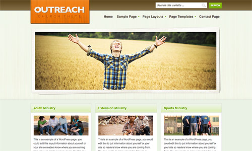 outreach wordpress template