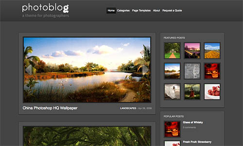 photoblog wordpress template