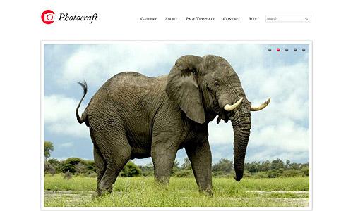 photocraft photography wordpress template
