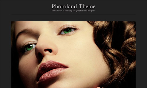 photoland wordpress template