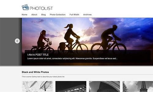 photolist wordpress template