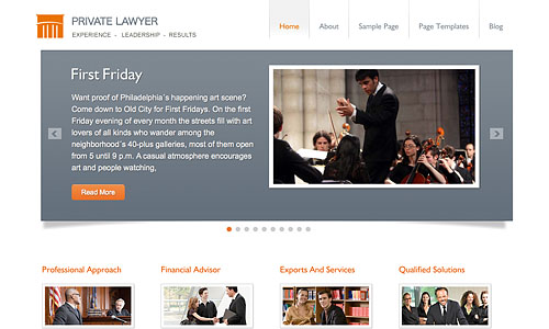 private lawyer wordpress template