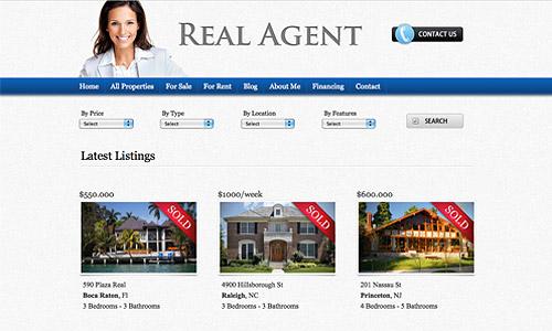 real agent wordpress template