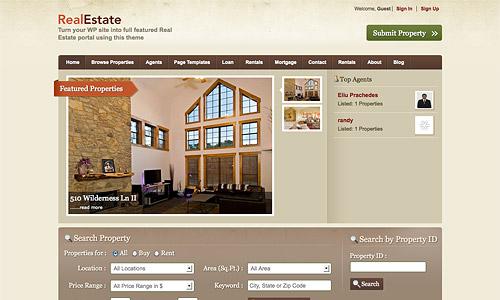 real estate wordpress template