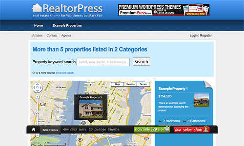 realtorpress wordpress template