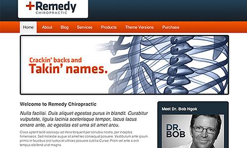remedy healthcare chiropractic wordpress template