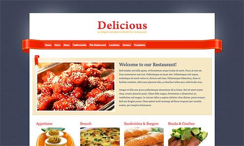 delicious wordpress template