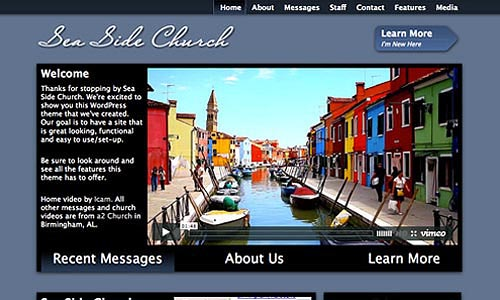 sea side church wordpress template