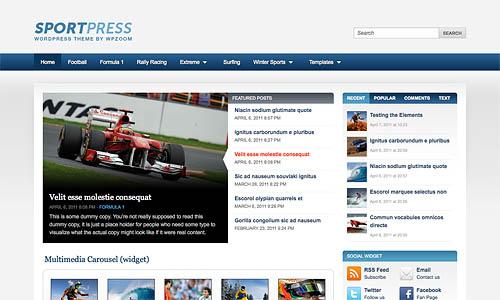 sportpress wordpress template