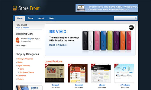 store front wordpress template