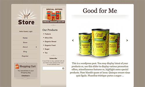 store wordpress template