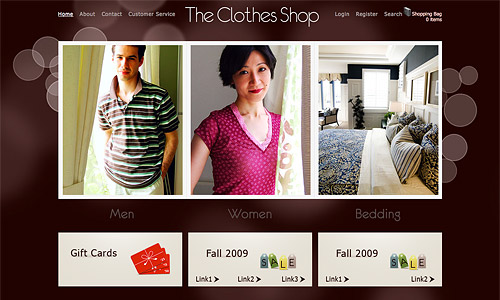 the clothes shop wordpress template