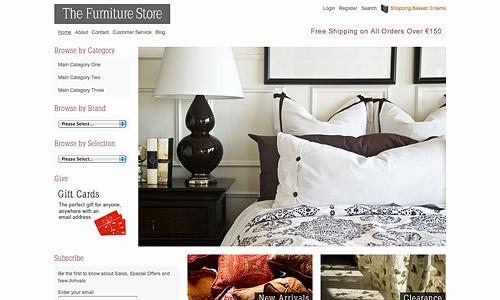 the furniture shop wordpress template