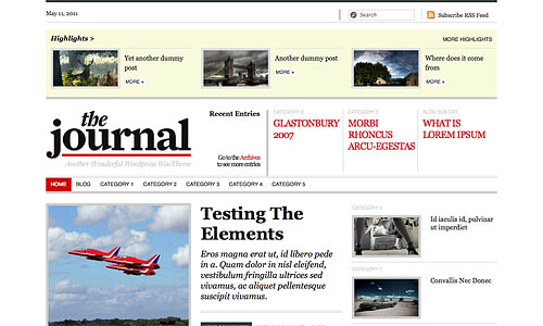 the journal news wordpress template