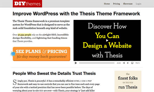 thesis wordpress template