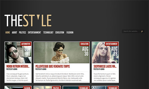 thestyle wordpress template