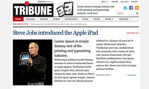 tribune news wordpress template