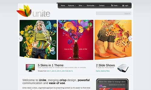 unite wordpress template