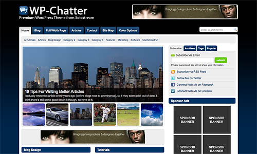 wp chatter wordpress template