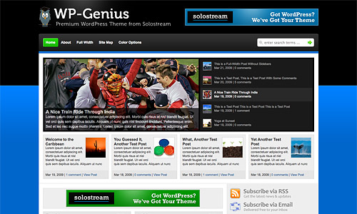 wp genius wordpress template