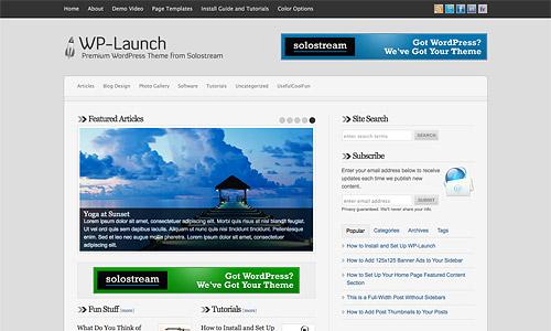 wp launch wordpress template
