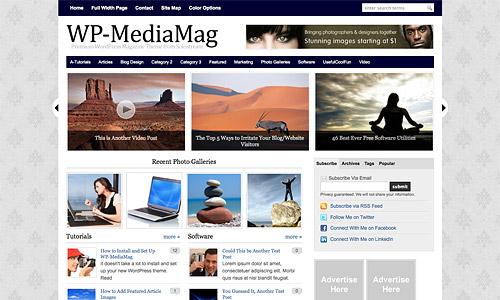 wp mediamag wordpress template