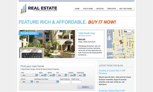wp pro real estate 2 wordpress template