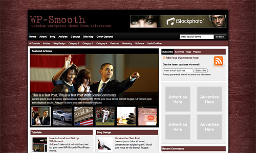 wp smooth wordpress template