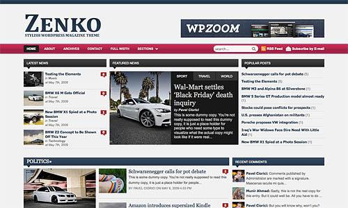 zenko wordpress template
